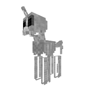 Skeleton pony
