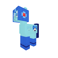 megaman pony (no suit and dif. coat color)